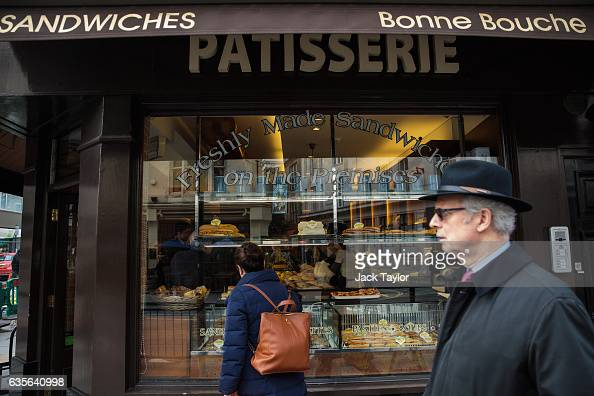 People walk by a Patisserie in Marylebone on February 16 2017 in London England The Association for Licensed Multiple Retailers have written to the...
