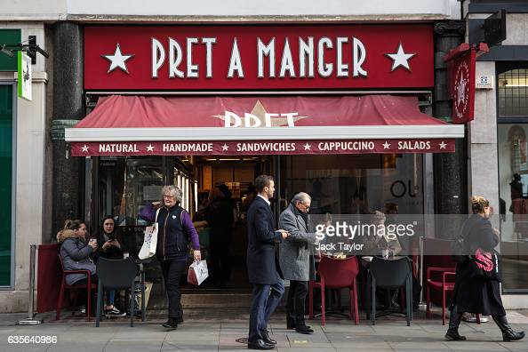 People walk by a Pret A Manger in Marylebone on February 16 2017 in London England The Association for Licensed Multiple Retailers have written to...