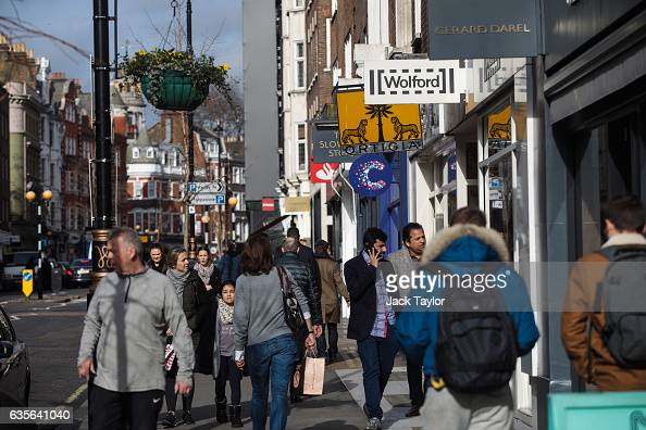 People walk down Marylebone High Street on February 16 2017 in London England The Association for Licensed Multiple Retailers have written to the...