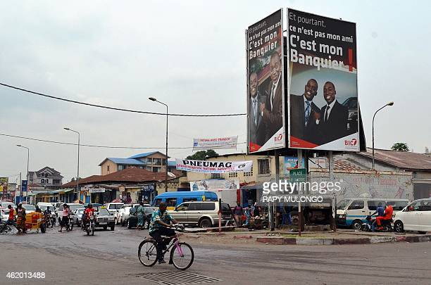 People walk in a street of Kinshasa on January 23 2015 after days of violent protests against President Joseph Kabila The International Federation...