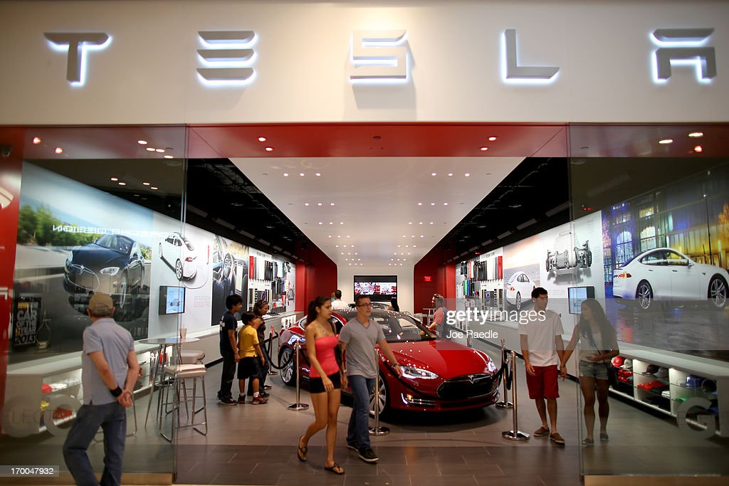 Electric Car Maker Tesla Opens Store In Miami Mall Getty