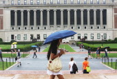 People walk on the Columbia University campus on July 1 2013 in New York City An interest rate hike kicks in today for student loans an increase for...