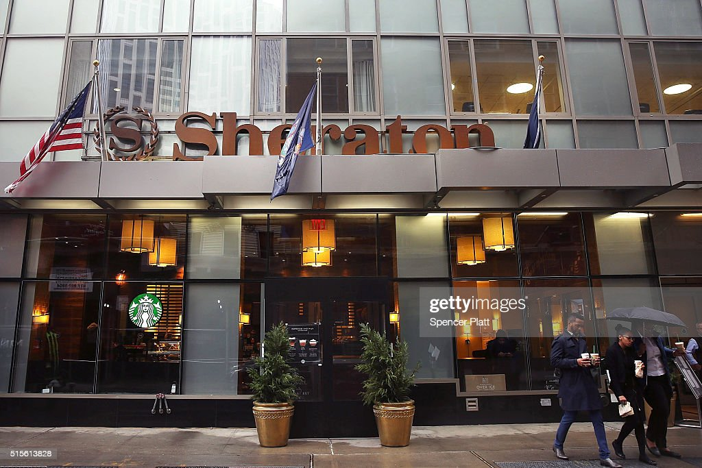 People Walk P A Sheraton Hotel In Downtown Brooklyn On March 14 2016 New