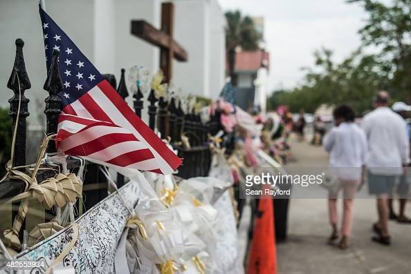 People walk past Emanuel AME Church JULY 31 2015 in Charleston South Carolina Earlier in the morning Dylann Roof the shooter in the June 17 massacre...