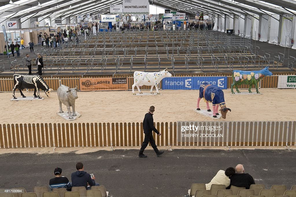 People walk past empty aisles without any animal due to for Pool trade show 2015