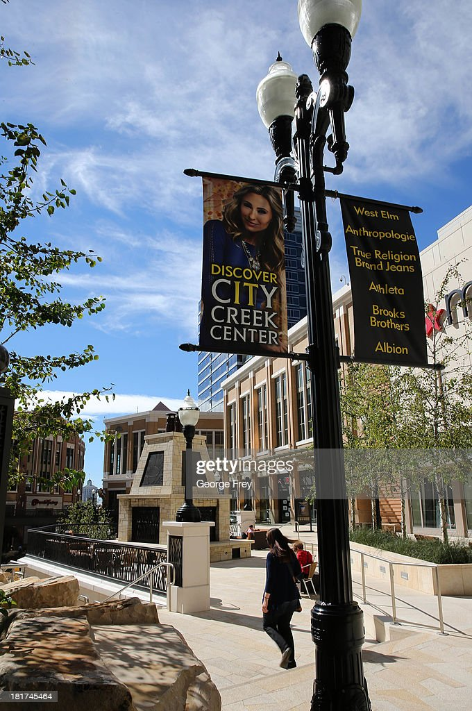 People walk through and shop at the City Creek Center shopping mall September 24, 2013 in Salt Lake City, Utah. Jack Harry Stiles was arrested on charges of treating terrorism after he informed mental health officials that he was planning on committing mass shootings at the City Creek Center Mall and other locations around Salt Lake City on September 25, 2013.