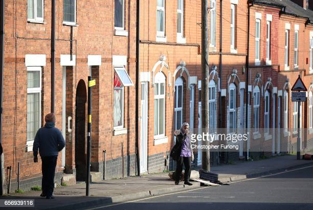 People walk through the streets of Handsworth on March 23 2017 in Birmingham England After yesterday's London terror attack police have made a number...