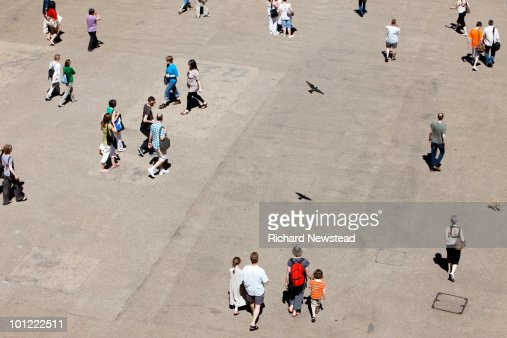 People walking in a road : Stock Photo