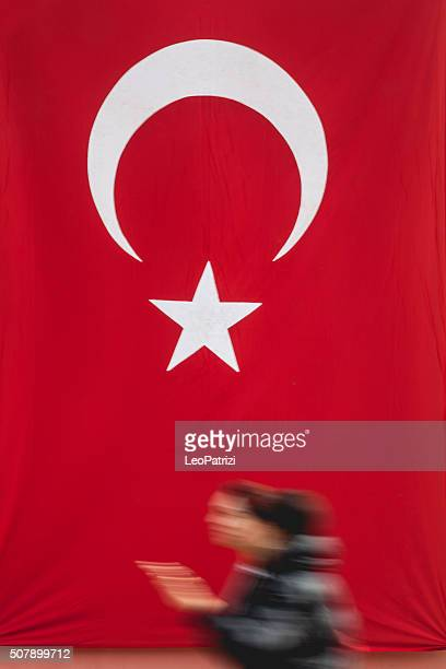 People walking in central Istanbul on the Republic Day