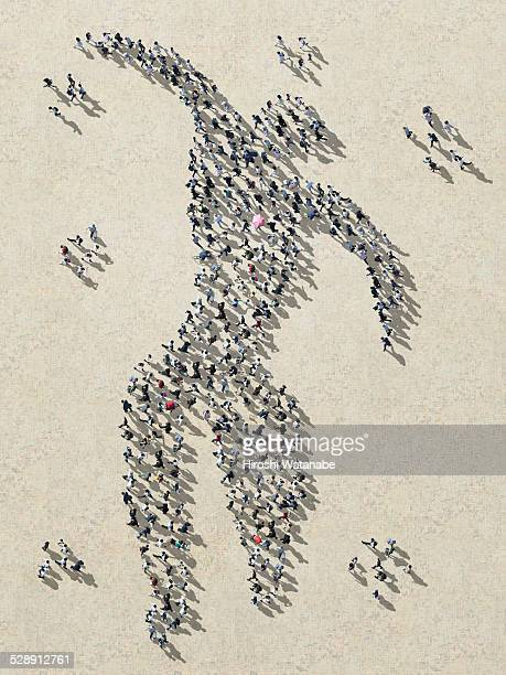 Matisse's 'Ikaros'  made out of walking people