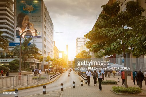 People walking on city street : Stock Photo