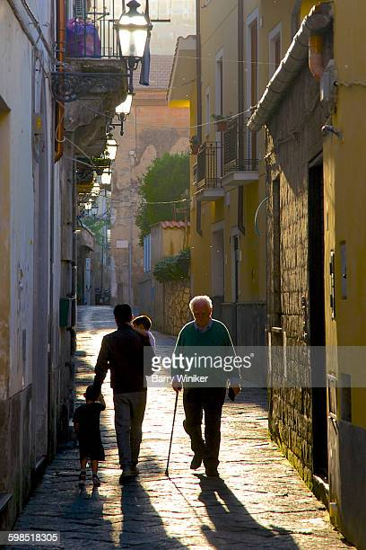 People walking on narrow street, Sorrento