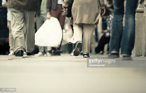People walking on the street - urban scene