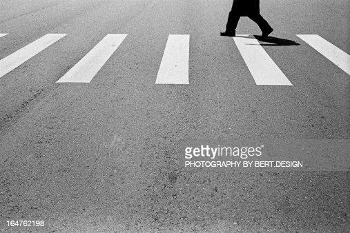 People walking on zebra crossing
