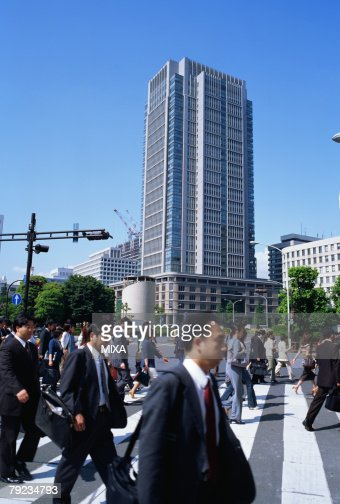 People walking to offices : Stock Photo