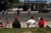 People watch a Memorial Day Parade on May 31 2010 in BridgeportConnecticut Bridgeport once home to thousands of Polish Americans still has a small...