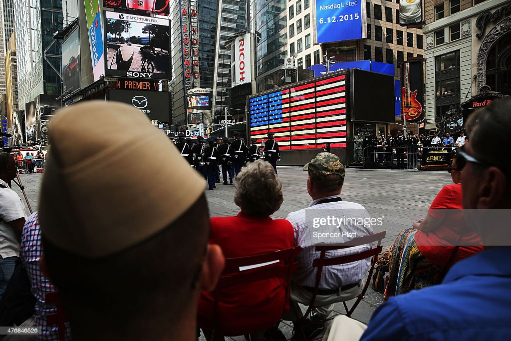 U s army marks 240th birthday in times square getty images for Activities in times square