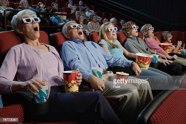People Watching 3-Dimensional Movie