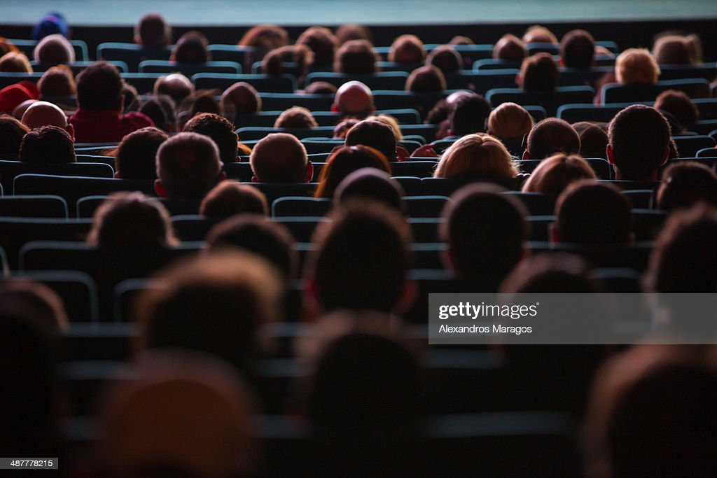 People watching a movie : Stock Photo