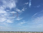 People Watching Airshow In Sky At Herne Bay