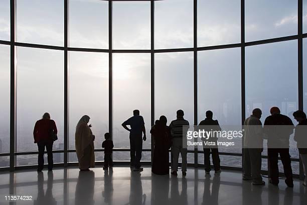 People watching Dubai from Burj Khalifa