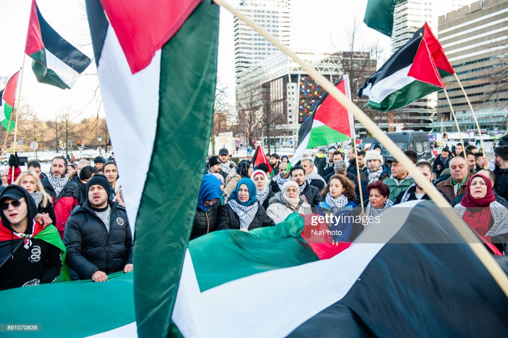 Protest in The Hague against Trump's recognition of Jerusalem as Israel's capital