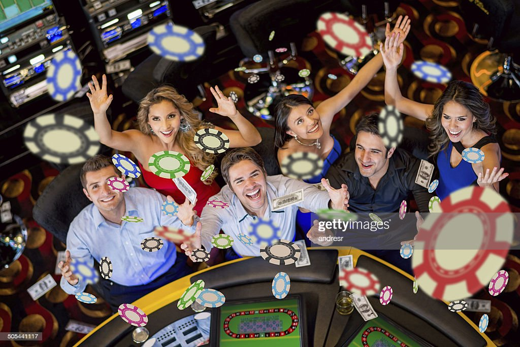 People winning at the casino : Stock Photo
