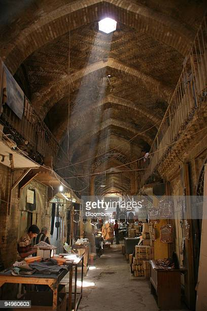 People work at the leather souq in Baghdad Iraq on Aug 24 2009 The ancient souq dates from the Abassid period of the 8th Century and was once part of...