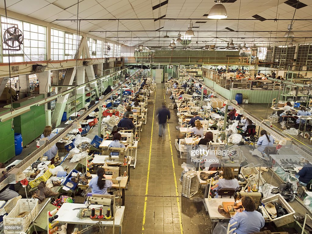 People Working In A Shoe Factory Stock Photo | Getty Images