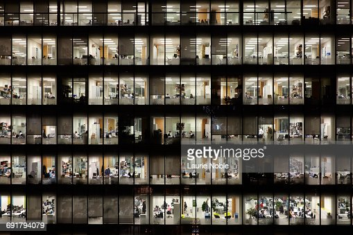People working in Office building. Lonon, England : Stock Photo