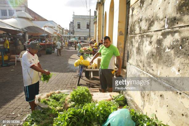 People working in the most famous market in Belém,Brazil