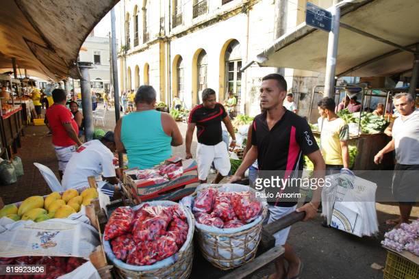 People Working on the Market in Amazon region Belém,Brazil