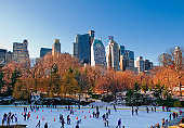 Peoples doing skating at Central Park