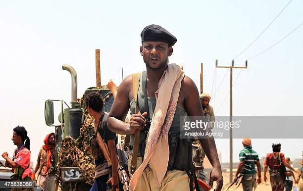 People's Resistance fighters loyal to Yemen's President AbdRabbu Mansour Hadi keep position in Bureyqa Aden's suburbs on June 03 2015 The United...