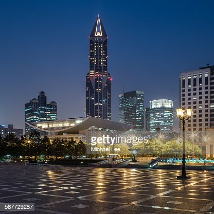 Peoples square night view - Shanghai