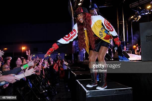 Pepa of SaltNPepa performs at 90sFEST Pop Culture and Music Festival on September 12 2015 in Brooklyn New York