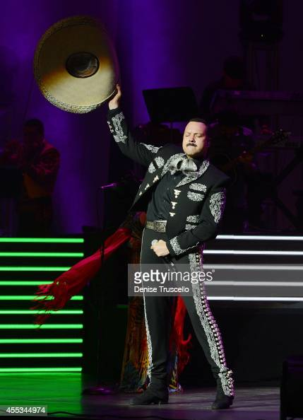 Pepe Aguilar performs at the Pearl at Palms Casino Resort on September 12 2014 in Las Vegas Nevada