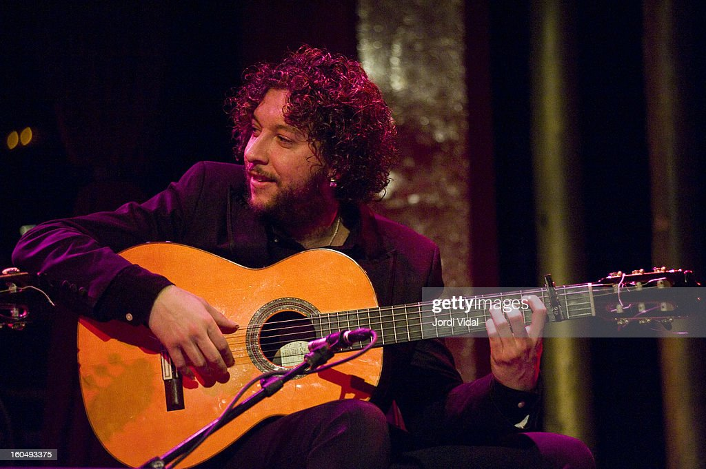 Pepe del Morao performs on stage during Caprichos del Apolo at Sala Apolo on February 1, 2013 in Barcelona, Spain.