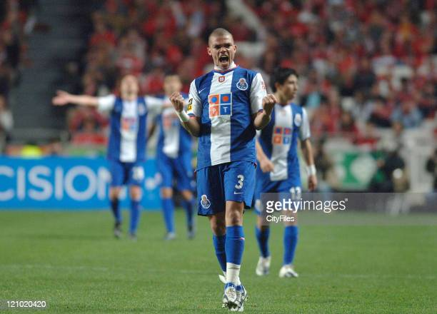 Pepe in a Portuguese premier league match between SL Benfica and FC Porto in Lisbon Portugal on April 1 2007