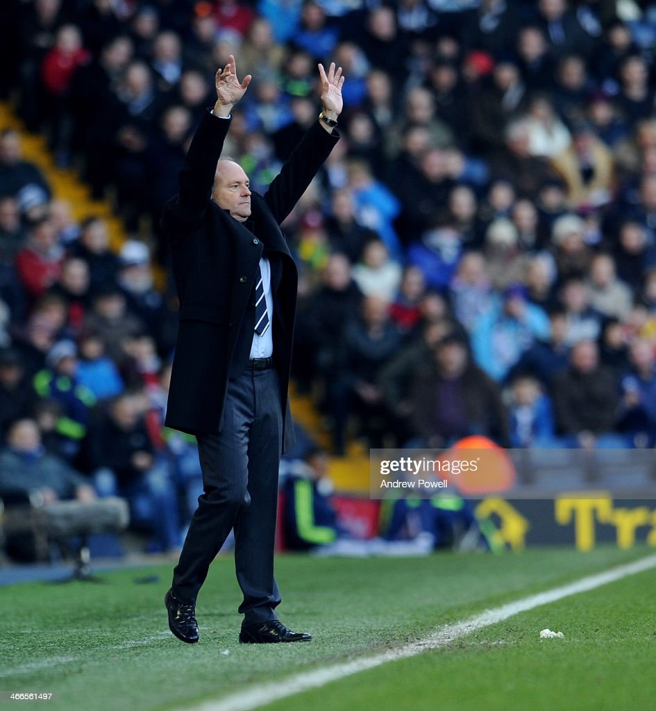 <a gi-track='captionPersonalityLinkClicked' href=/galleries/search?phrase=Pepe+Mel&family=editorial&specificpeople=3667674 ng-click='$event.stopPropagation()'>Pepe Mel</a> manager of West Bromwich Albion reacts during the Barclays Premier Leauge match between West Bromwich Albion and Liverpool at The Hawthorns on February 2, 2014 in West Bromwich, England.