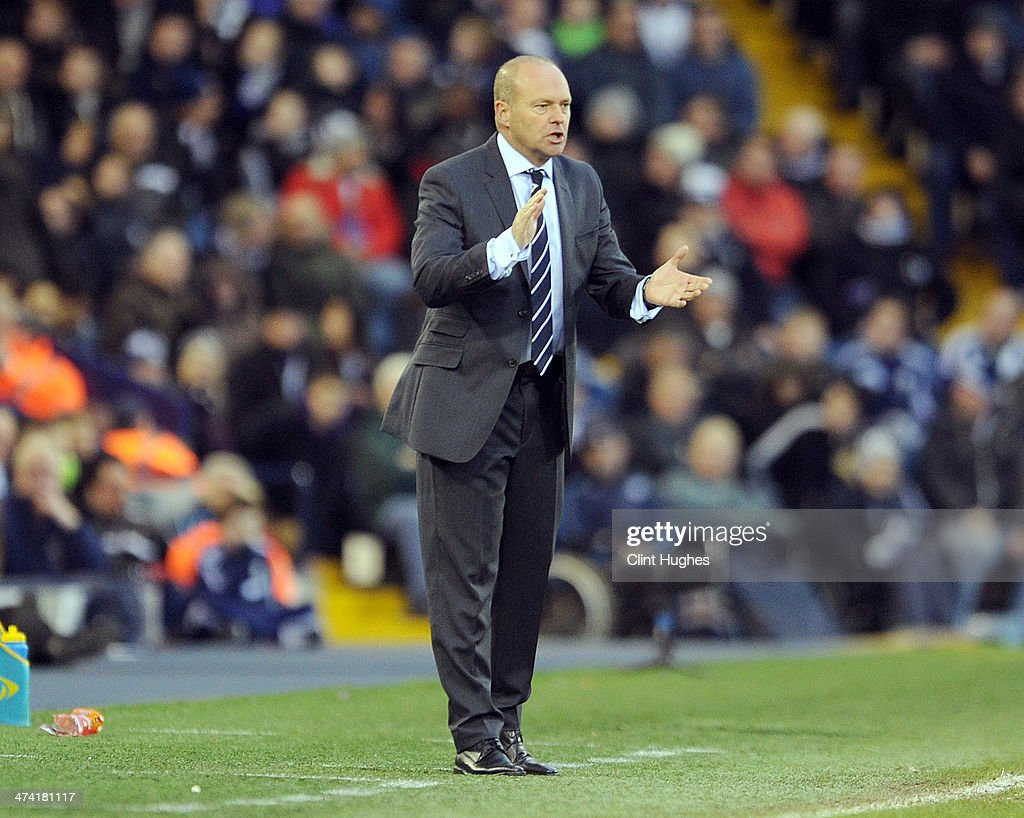Pepe Mel manager of West Bromwich Albion reacts during the Barclays Premier League match between West Bromwich Albion and Fulham at the Hawthorns on February 22, 2014 in West Bromwich, England.