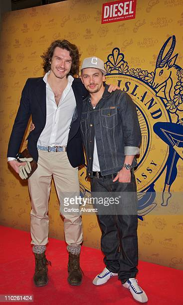 Pepe Munoz and Benji Lee attend Diesel Island Embassy party at 'El Circulo de Bellas Artes' on March 16 2011 in Madrid Spain
