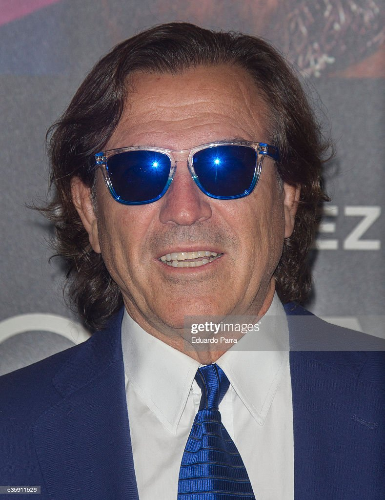 Pepe Navarro attends the 'Nuestros Amantes' premiere at Palafox cinema on May 30, 2016 in Madrid, Spain.
