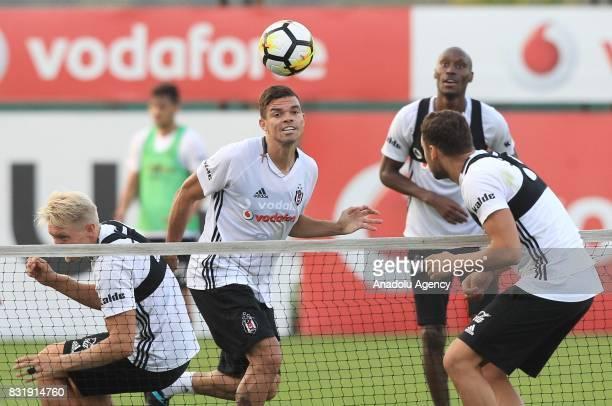 Pepe of Besiktas attends a training session ahead of a Turkish Spor Toto Super Lig match between Kasimpasa and Besiktas at Besiktas Nevzat Demir...