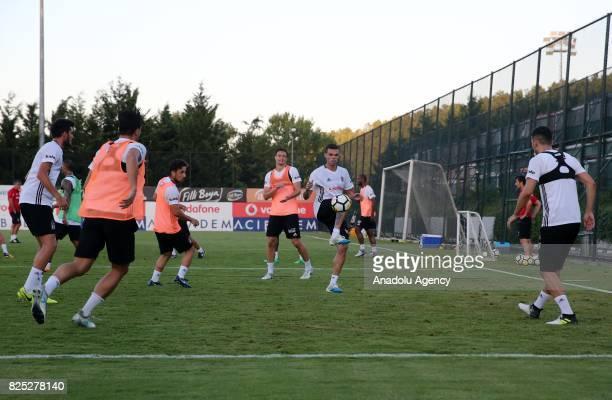 Pepe of Besiktas attends the training session ahead of the Turkcell Super Cup football match between Besiktas and Atiker Konyaspor at Besiktas Nevzat...
