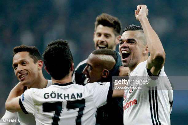 Pepe of Besiktas celebrate 11 during the UEFA Champions League match between Besiktas v FC Porto at the Vodafone Park on November 21 2017 in Istanbul...