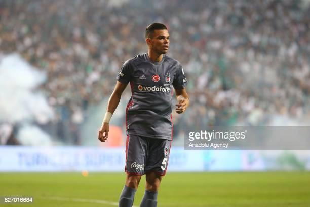 Pepe of Besiktas is seen during the Turkcell Super Cup match between Besiktas and Atiker Konyaspor at Samsun New 19 Mays Stadium in Samsun Turkey on...