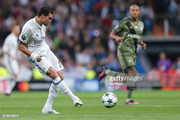 Pepe of Real Madrid during the UEFA Champions League football match Real Madrid CF vs Legia Legia Warszawa at the Santiago Bernabeu stadium in Madrid...