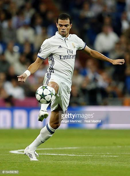 Pepe of Real Madrid in action during the UEFA Champions League Group F match between Real Madrid CF and Legia Warszawa on October 18 2016 in Madrid...