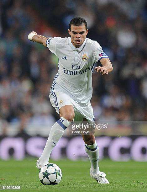 Pepe of Real Madrid in action during the UEFA Champions League Group F match between Real Madrid CF and Legia Warszawa at Santiago Bernabeu stadium...